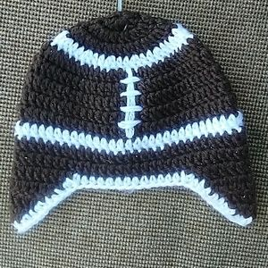 Baby football hat 0-6 months